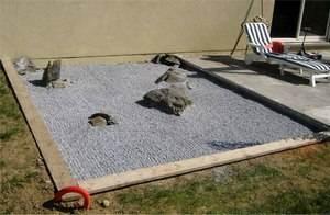 délimitation d'un jardin zen