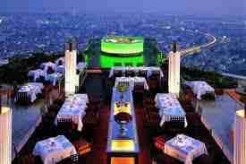 state tower bangkok, au skylab, un bar illuminé