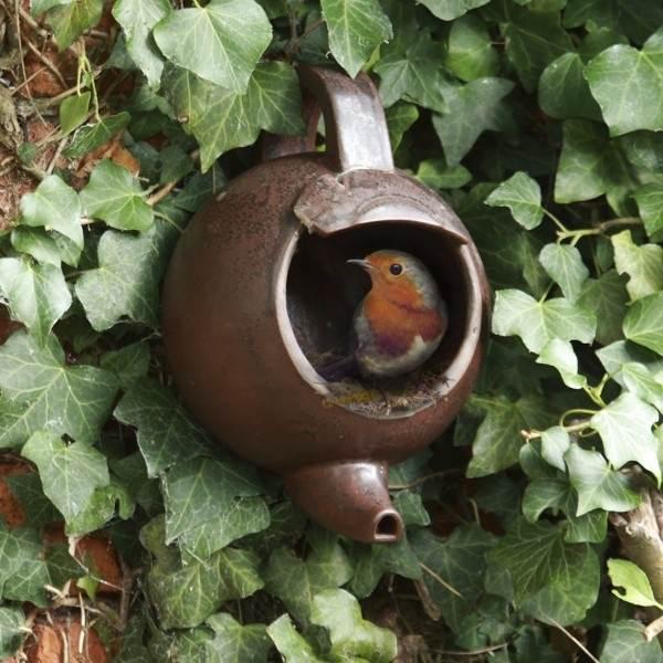 nichoir à oiseaux artisanal
