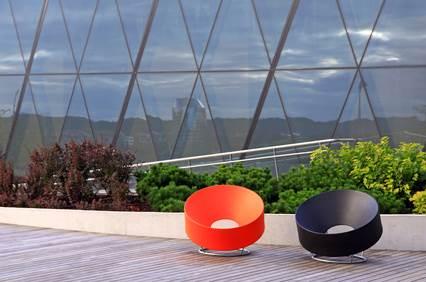 mobilier d'exterieur orange