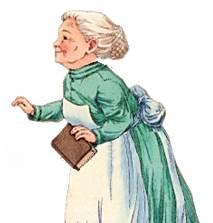 picto de mamie avec un bouquin
