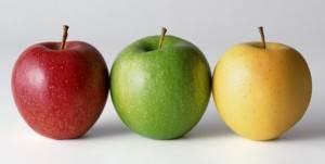 3 couleurs pomme