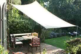 voile d'ombrage rectangulaire déco tendance jardin